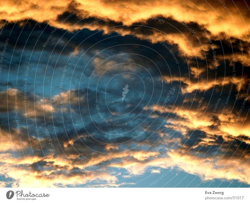 September Stimmung 2 Wolken Sonnenuntergang Himmel