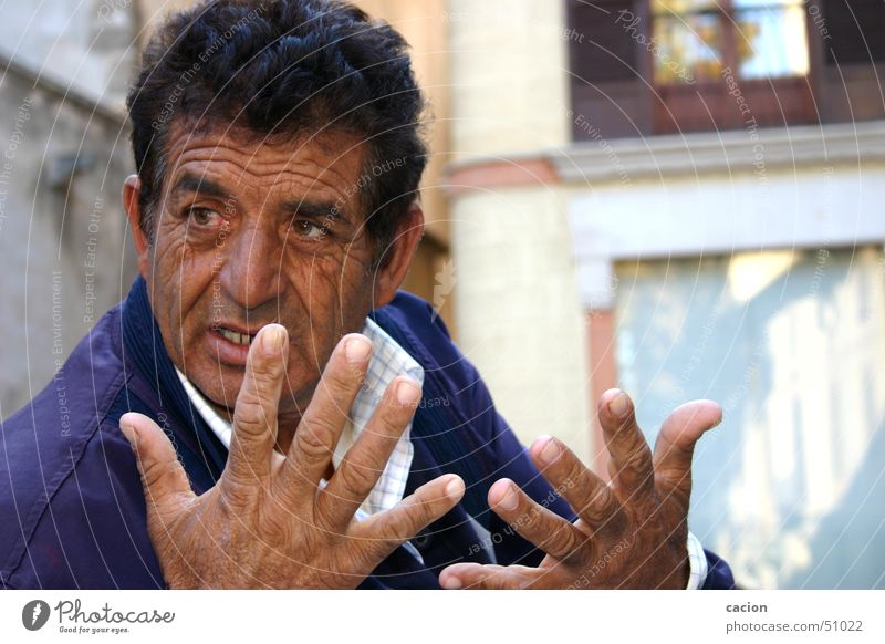 Handel feilschen sprechen Mann maskulin Spanien Spanier verkaufen