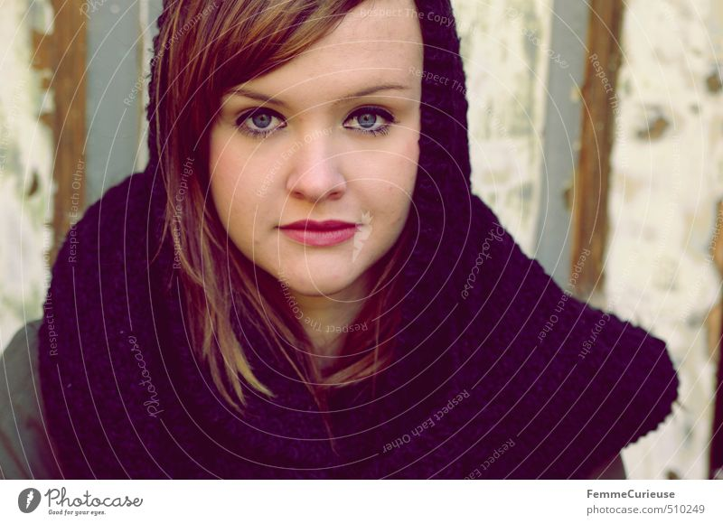 Autumnal Beauty (II). elegant Stil schön feminin Junge Frau Jugendliche Erwachsene 1 Mensch 13-18 Jahre Kind 18-30 Jahre einzigartig geheimnisvoll Schal