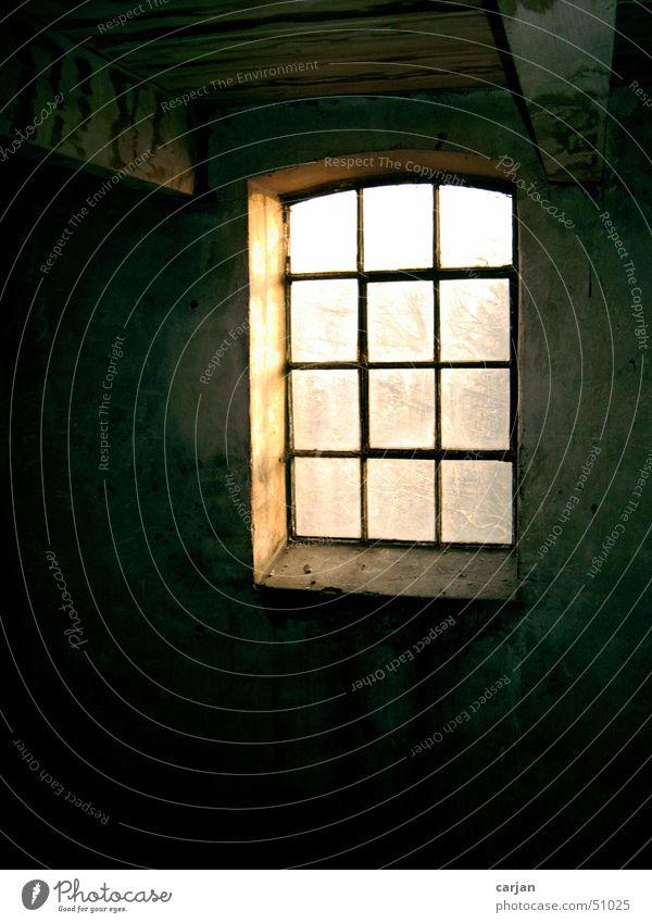 Fenster in historischem Gebäude alt Aussicht Ruine