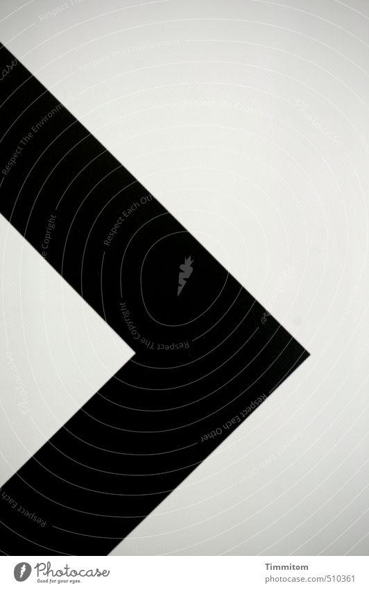!trash! 2013 | spitz. weiß schwarz grau Linie Schilder & Markierungen ästhetisch Hinweisschild Spitze Ecke einfach Zeichen eckig Plakat Dreieck