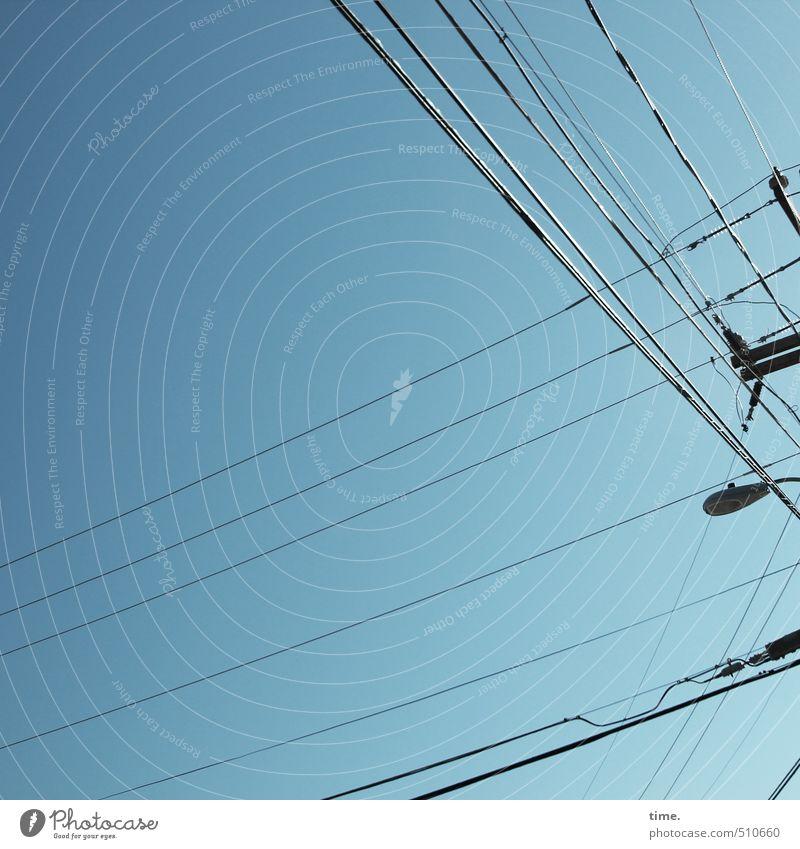 Revisit | 7 Kabel Technik & Technologie Energiewirtschaft Strommast Himmel Schönes Wetter ästhetisch Zufriedenheit elegant Inspiration Kommunizieren kompetent