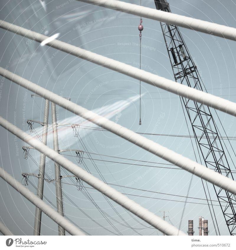 Spiegelung | Technologiepark Arbeit & Erwerbstätigkeit Baustelle Wirtschaft Industrie Energiewirtschaft Kran Technik & Technologie Industrieanlage Fabrik Brücke
