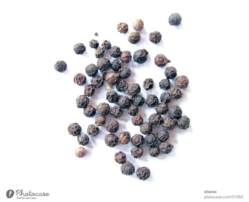 Pfeffer schwarz Ernährung Freisteller Scharfer Geschmack Kräuter & Gewürze Lebensmittel Zutaten Würzig