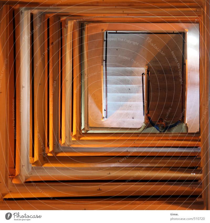 up'n down Mensch Gebäude oben Kunst Zufriedenheit Tourismus ästhetisch bedrohlich Turm Kultur Neugier trocken Vertrauen Gelassenheit Bauwerk tief