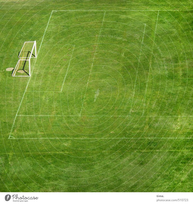 trotz Moos nix los grün Einsamkeit Wiese Sport Wege & Pfade Gras hell Linie Perspektive Schönes Wetter Beginn Kommunizieren Fitness Wandel & Veränderung