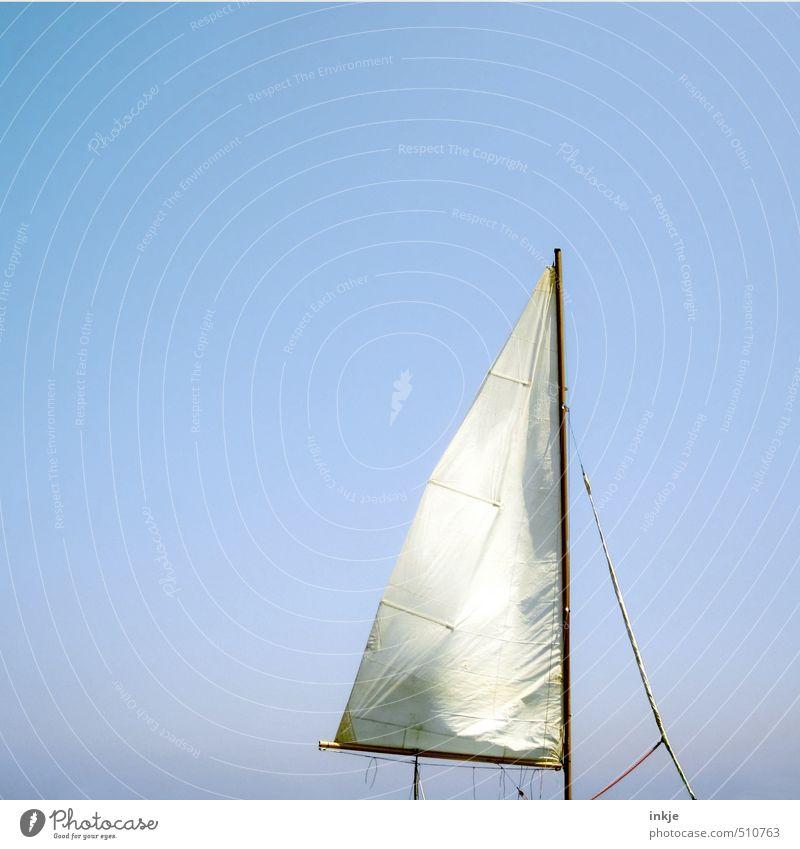 Sonnensegel Ferien & Urlaub & Reisen Ferne Sommer Sommerurlaub Luft Himmel Wolkenloser Himmel Schönes Wetter Wind Schifffahrt Bootsfahrt Segelboot Segelschiff
