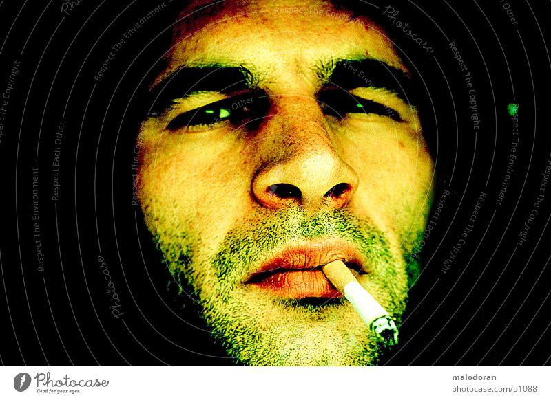 dont smoke Mensch Rauchen Zigarette Zigarettenmarke unrasiert