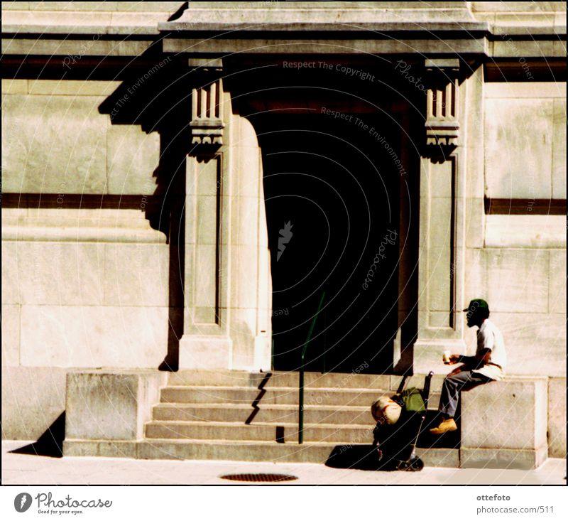 Bettler in Washington DC Stadt Mensch USA Homeless