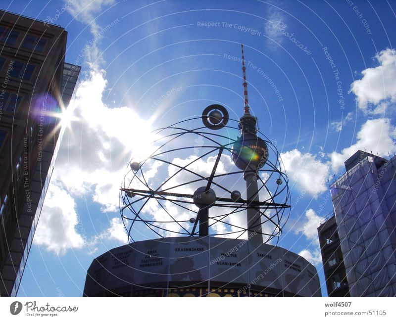 sonnenspiel Alexanderplatz Weltzeituhr Berlin Berliner Fernsehturm