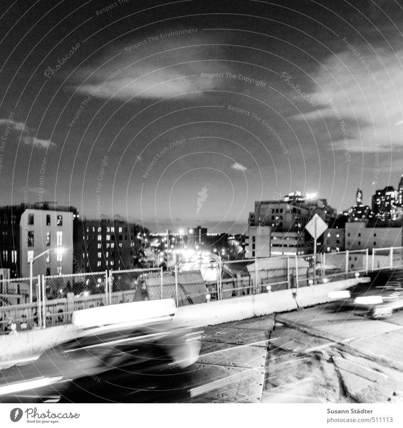 Rush Ferien & Urlaub & Reisen Stadt Haus Wand Mauer Architektur Gebäude PKW Verkehr Brücke fahren Verkehrswege Stadtzentrum Personenverkehr Brooklyn