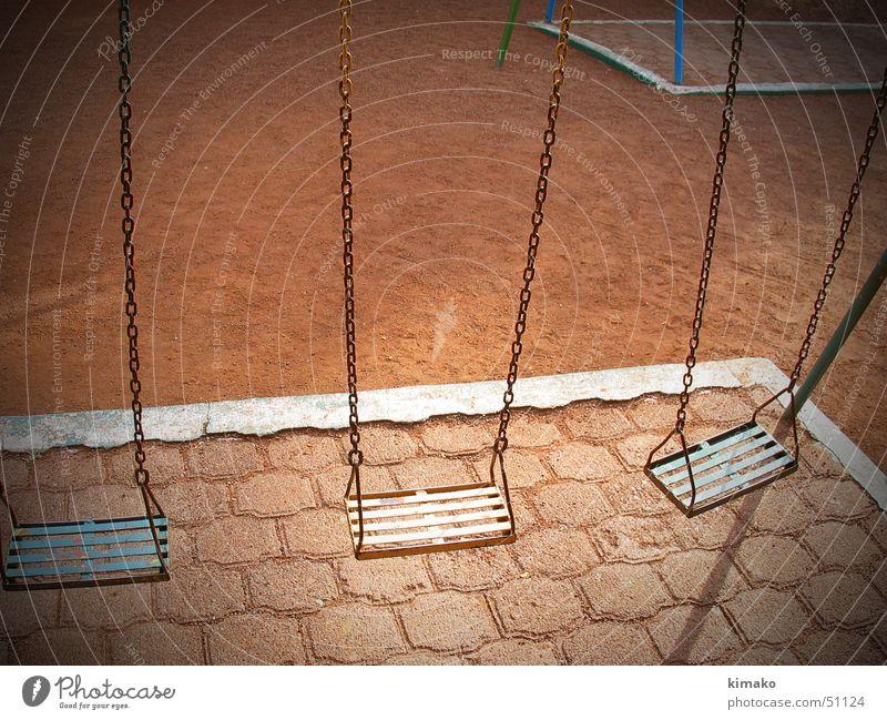 Solitude Einsamkeit Park Sand Erde Schaukel Spielplatz Mexiko Swing