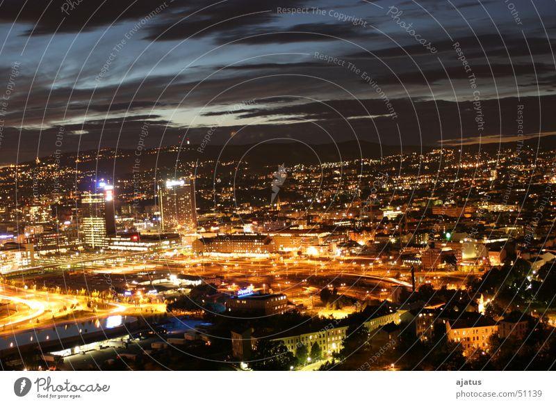 oslo nights Oslo Nacht Licht Wolken
