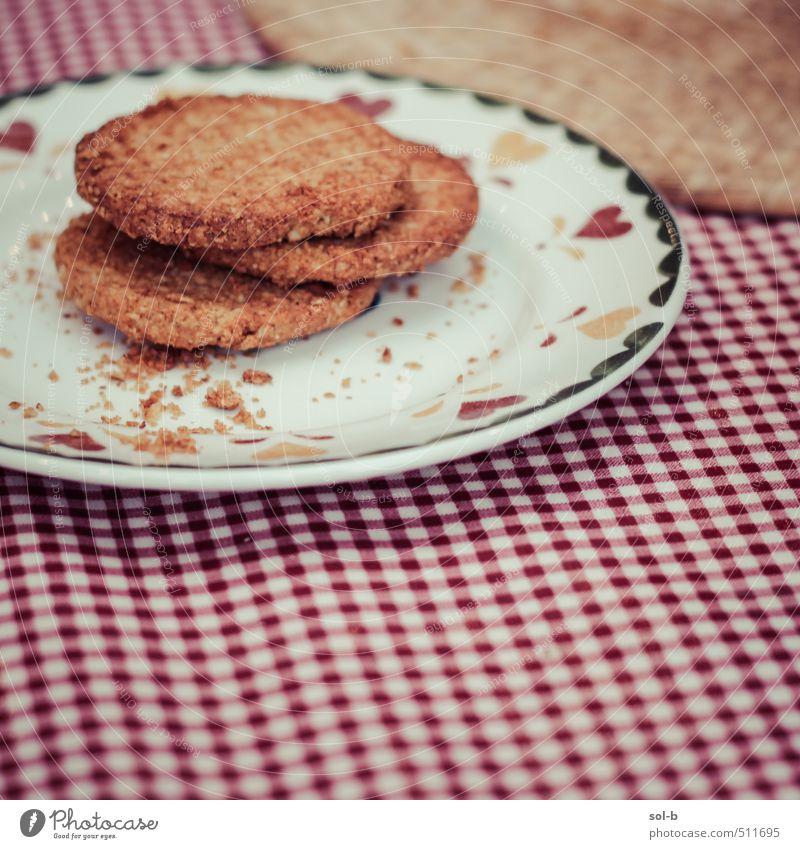 drei übrig Lebensmittel Kuchen Dessert Süßwaren Hafer Ernährung Essen Mittagessen Picknick Bioprodukte Diät Teller Lifestyle Zufriedenheit Erholung