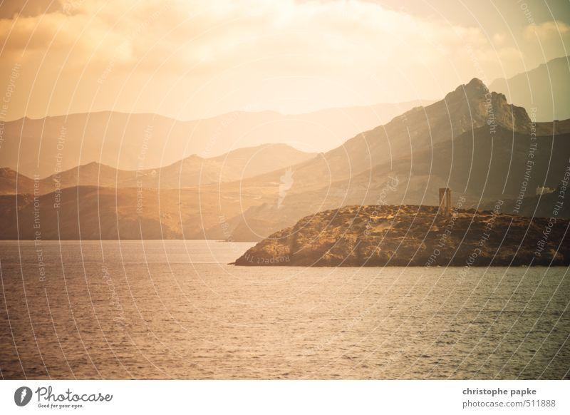 Naxos Natur Ferien & Urlaub & Reisen Sommer Meer Landschaft Küste Felsen Insel Gipfel Hügel Bucht Sommerurlaub Wahrzeichen Sehenswürdigkeit exotisch