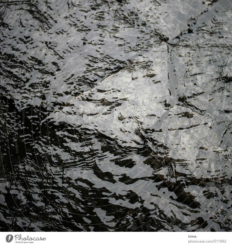 Sturzbach Wasser Wassertropfen Unwetter Regen Wege & Pfade Steinplatten Fußweg Flüssigkeit nass Bewegung Kreativität Kunst Leben nackt Natur fließen