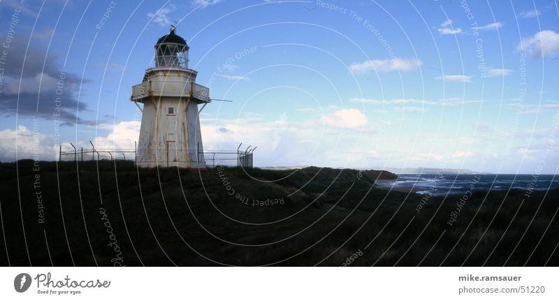 leuchtturm Lampe Küste hoch Turm Leuchtturm Süden Neuseeland typisch Südinsel exponiert Orientierungspunkt