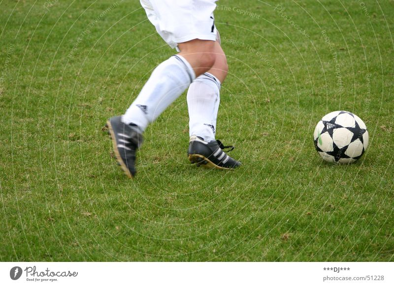 Auf geht´s zur WM 2006! grün Sport Gras Fuß Schuhe Fußball Ball Rasen Hose Shorts Knie Fußballplatz schießen Weltmeisterschaft abstützen Liga