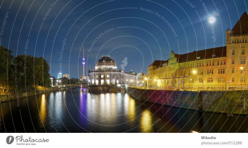 Bode Museum Panorama an der Spree Hauptstadt Menschenleer Gebäude Architektur Sehenswürdigkeit frei Berlin Museumsinsel Berliner Fernsehturm