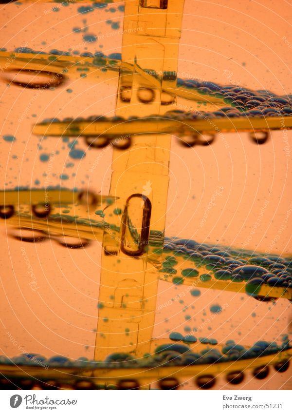 Luft und Wasser Wasser blau gelb Wege & Pfade Luft orange Blase blasen Luftblase