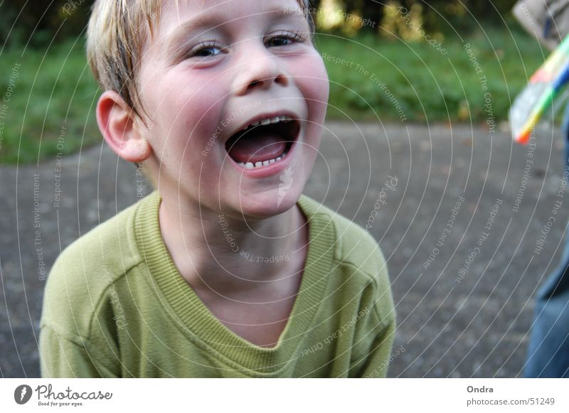 Fröhlichkeit steckt an Mensch Kind Junge Glück lachen maskulin Ausgelassenheit