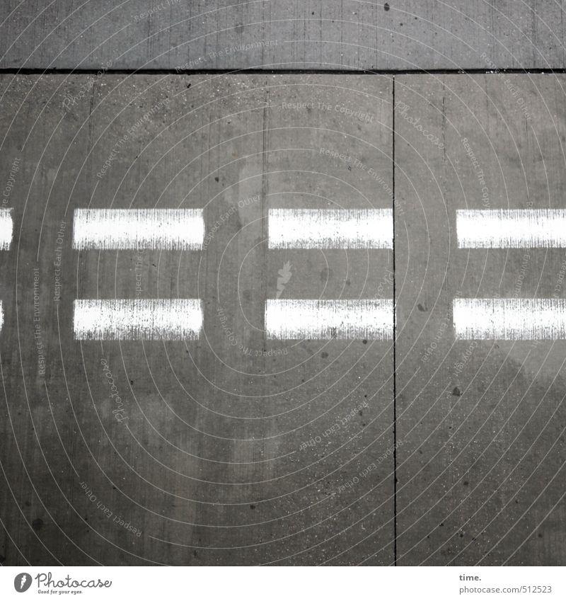 Stotterbremse Stadt weiß kalt Farbstoff Wege & Pfade grau Zeit Kunst Ordnung Luftverkehr Beton Sicherheit Gemälde Konzentration Zusammenhalt entdecken