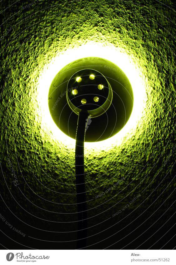Backlight grün rot Auge Wand Wärme Lampe Metall hell Kreis retro rund Tapete rückwärts Überbelichtung Relief Raufasertapete
