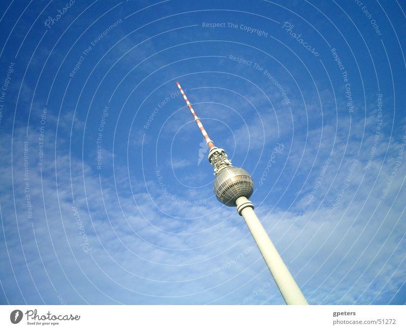 Fernsehtum Himmel Wolken Berlin Fernsehen Berliner Fernsehturm