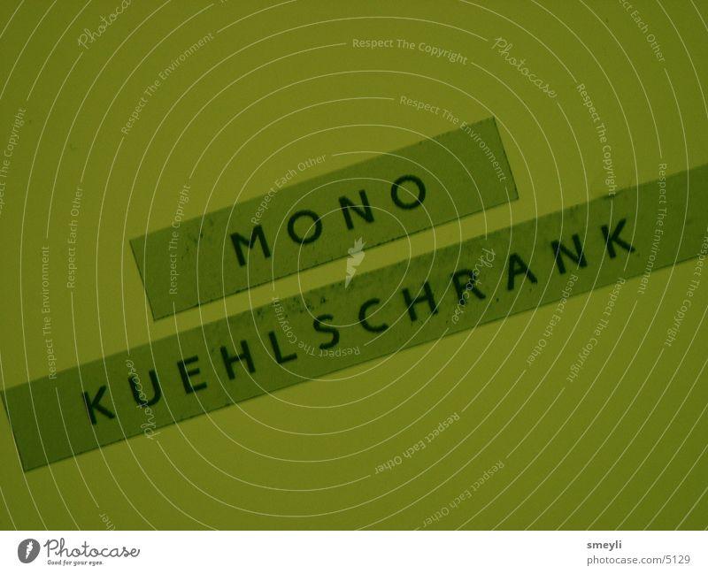 mono kuehlschrank Kühlschrank Etikett Fototechnik