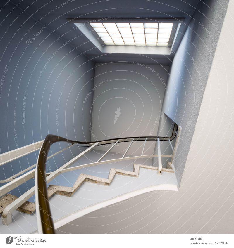 Maisonette schön Fenster Architektur Innenarchitektur Stil oben Wohnung Treppe elegant Häusliches Leben Lifestyle Design modern hoch Perspektive einzigartig