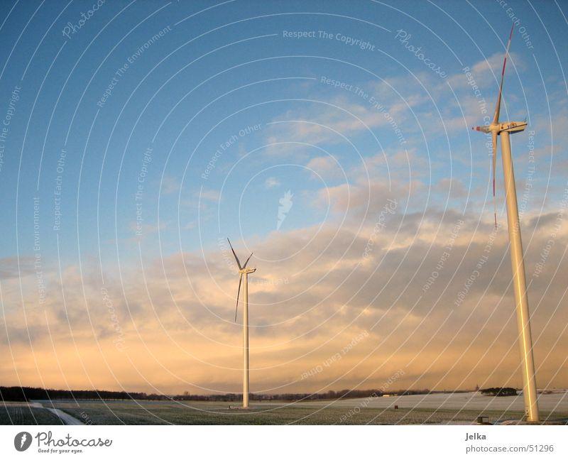 wind power schön Landschaft Wolken Windkraftanlage Ebene Stromkraftwerke