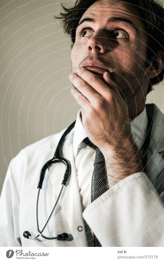Mensch Jugendliche Junger Mann 18-30 Jahre Erwachsene Leben Denken Gesundheit Arbeit & Erwerbstätigkeit maskulin Gesundheitswesen Beruf Krankheit Risiko Arzt