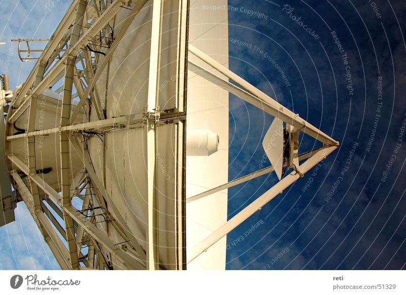 Ist da wer? Satellitenantenne Teleskop Funktechnik Antenne Sender Großantenne Fuchsstadt Radioteleskop satelitt Schalen & Schüsseln Weltall parabol Himmel astro