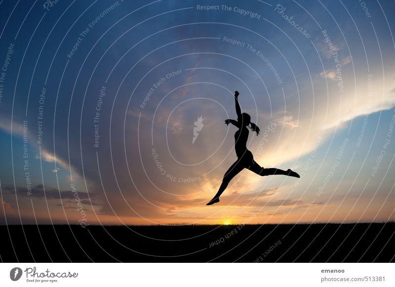 dancer in the dark Lifestyle Stil Freude schön Ferien & Urlaub & Reisen Freiheit Sport Fitness Sport-Training Tanzen Mensch feminin Junge Frau Jugendliche