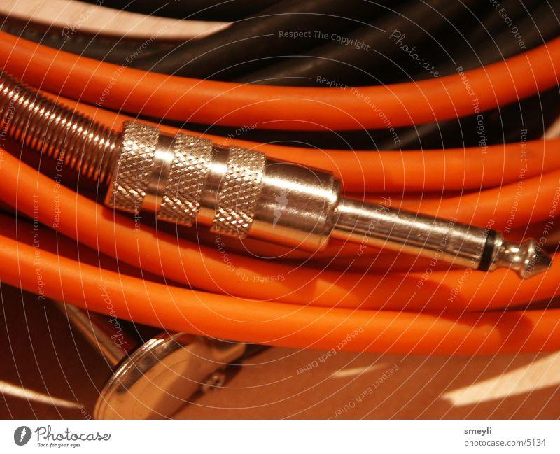 kabelfreund Stecker Elektrizität Griff rot Elektrisches Gerät Technik & Technologie Kabel Musik orange Musikinstrument