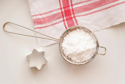 Weihnachten & Advent weiß rot Metall Tisch Kochen & Garen & Backen Küche Appetit & Hunger Süßwaren lecker Kuchen Tischwäsche Handtuch Zutaten Weihnachtsstern