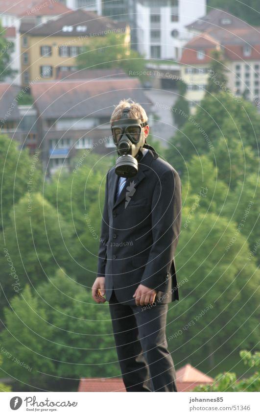 Feinstaub? Stadt Anzug Atemschutzmaske