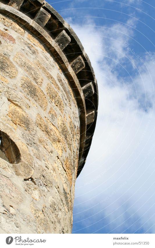 Wolkenturm Gebäude Denkmal Turm Himmel Stein alt tecklenburg Burg oder Schloss