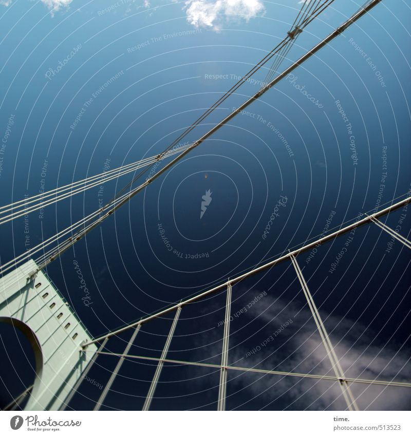 SkyLines Himmel Wolken Schönes Wetter Brücke Bauwerk Architektur Pol- Filter außergewöhnlich fantastisch hoch Begeisterung Leben Höhenangst Design erleben
