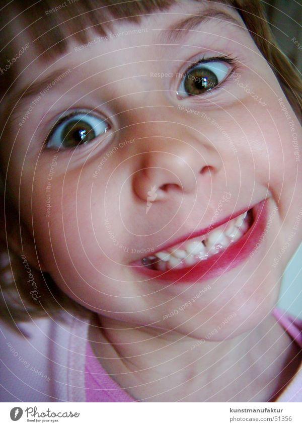Happy Kid Kind Mädchen Fröhlichkeit lustig happy Gesicht lachen Zähne