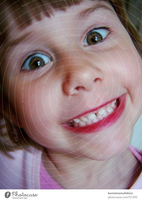 Happy Kid Kind Mädchen Gesicht lachen lustig Fröhlichkeit Zähne