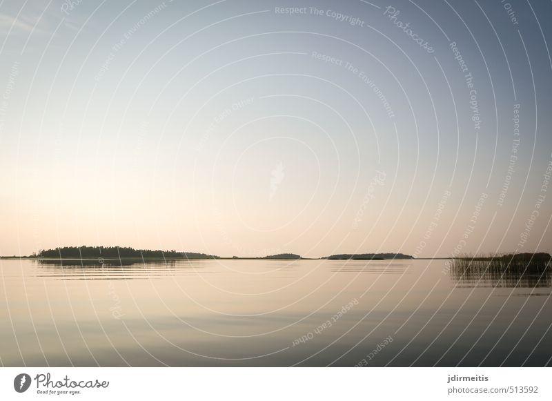 seicht Himmel Natur Ferien & Urlaub & Reisen Wasser Sommer Erholung Landschaft Umwelt See Freizeit & Hobby Wellen Insel Seeufer Sommerurlaub Schilfrohr Schweden
