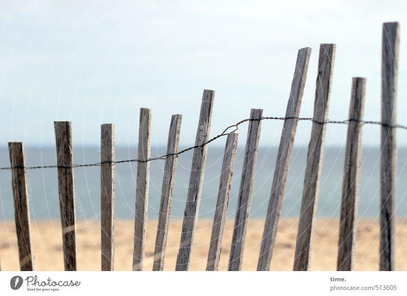 Kuschelgruppe   Tanz am Strand Tanzen Umwelt Natur Landschaft Wasser Himmel Herbst Schönes Wetter Küste Meer Zaun Holzbrett Verbindungstechnik Draht