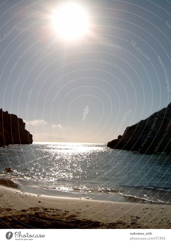 tor zum meer Himmel Sonne Meer Strand Ferien & Urlaub & Reisen Sand Wellen Mallorca Wasser