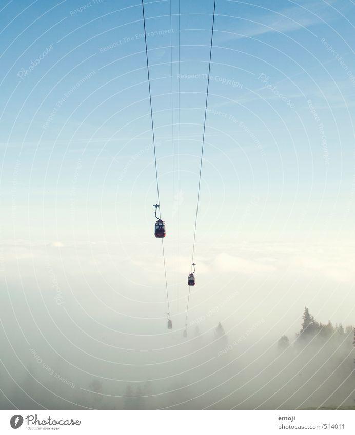 nichts und wieder nichts Himmel Natur Umwelt Herbst natürlich außergewöhnlich Freizeit & Hobby Nebel wandern Gondellift Seilbahn nur Himmel