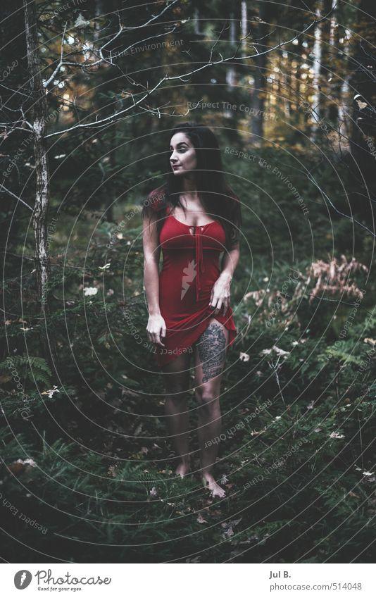 Bein zeigen II Mensch Natur Jugendliche Junge Frau 18-30 Jahre Erwachsene Umwelt feminin Herbst Körper berühren