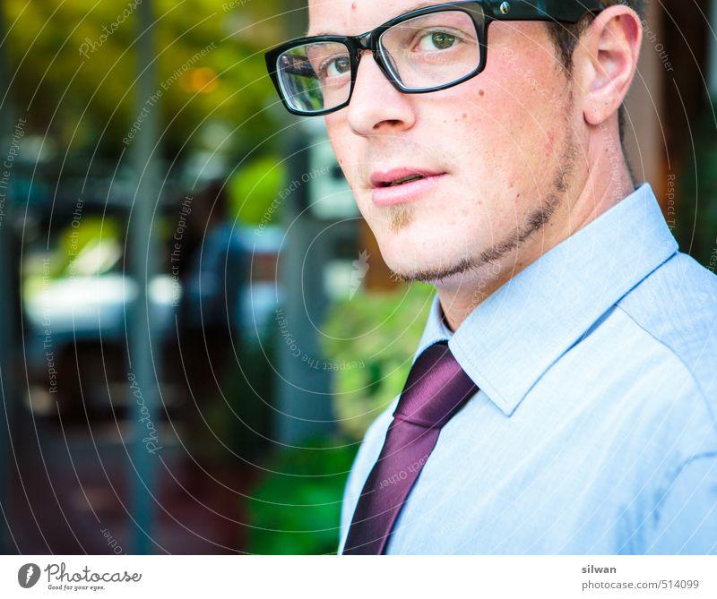 what... questions? Mensch Jugendliche Mann 18-30 Jahre Gesicht Erwachsene maskulin elegant Erfolg Coolness Brille Hochzeit sportlich Bart Hemd Krawatte