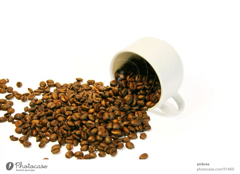 tasse kaffeebohnen Kaffee Café Tasse Espresso Cappuccino Kaffeebohnen Latte Macchiato