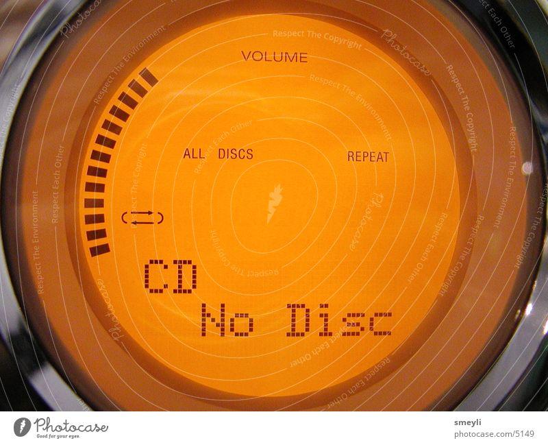 no disc rund Elektrisches Gerät Technik & Technologie orange Makroaufnahme Anzeige