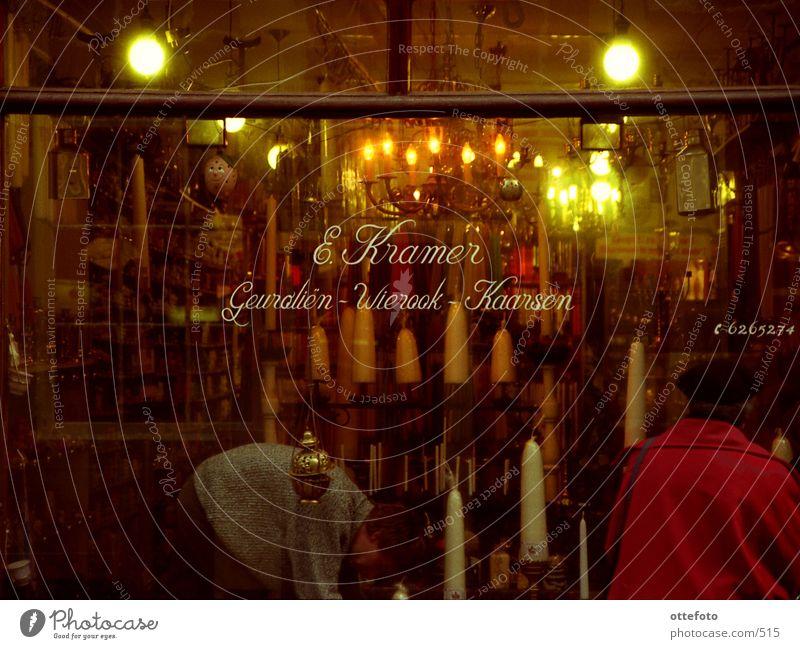Amsterdam: Kerzenladen Stadt Winter Kerze Dinge Ladengeschäft Niederlande Amsterdam